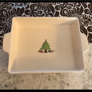 Rae Dunn Christmas baking dish 9x11 new unused